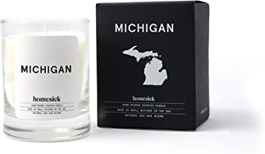 Homesick Mini Scented Candle (10 to 12 hr Burn Time) Home, 1.5 oz, Michigan