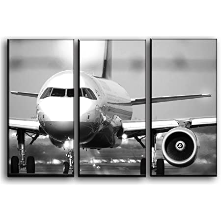 Canvas Airbus A320 Taking Off Art print POSTER