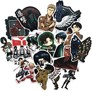 Anime Themed Attack on Titan 21 Piece Sticker Decal Set for Kids Adults - Laptop Motorcycle Skateboard Decals