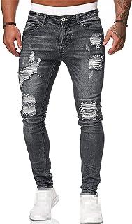 Men's Sweatpants Sexy Hole Jeans Pants Casual Summer Autumn Male Ripped Skinny Slim Biker Outwears Pants