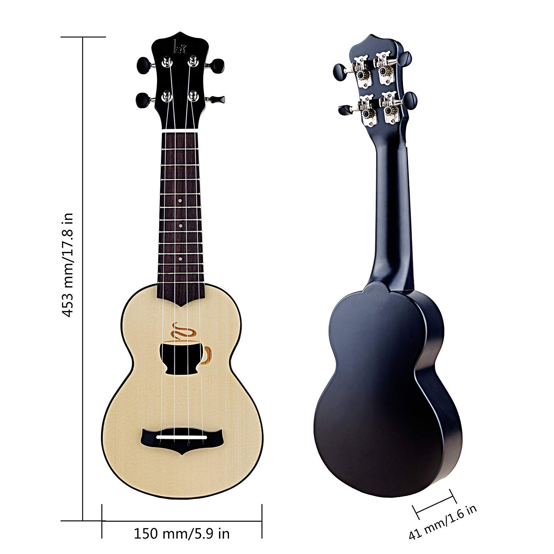 Mugig Ukelele 17 pulgadas 4 cuerdas Instrumento de práctica ...