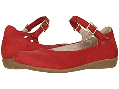 Earth Alma (Bright Red Soft Buck) Women