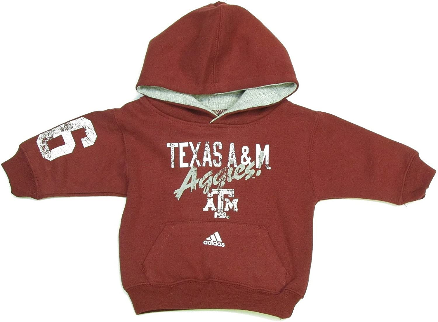 Adidas Texas A&M Aggies Infant Toddler Distressed Hooded Sweatshirt