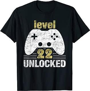 Level 22 Unlocked - 22 Year Old Gift 22nd Birthday Gamer T-Shirt