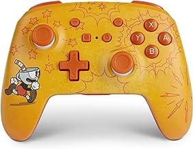 PowerA Enhanced Wireless Controller for Nintendo Switch - Cuphead, Nintendo Switch Lite, Gamepad, Game Controller, Bluetoo...