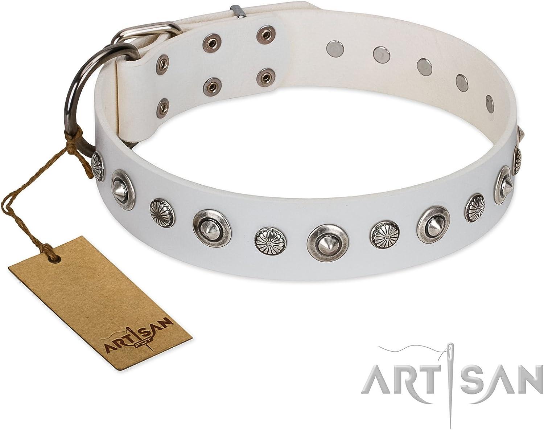 FDT Artisan 23 inch White Leather Collar Gorgeous Roundie Exclusive