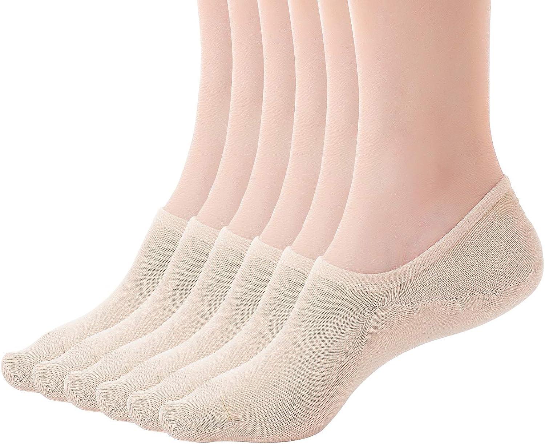 KKSSQUEEN Womens No Show Socks Non-Slip Low Cut Socks Cotton Invisible