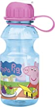 Zak Designs Peppa Pig 14oz Kids Water Bottle with Straw - BPA Free with Easy Clean Design, Peppa Pig