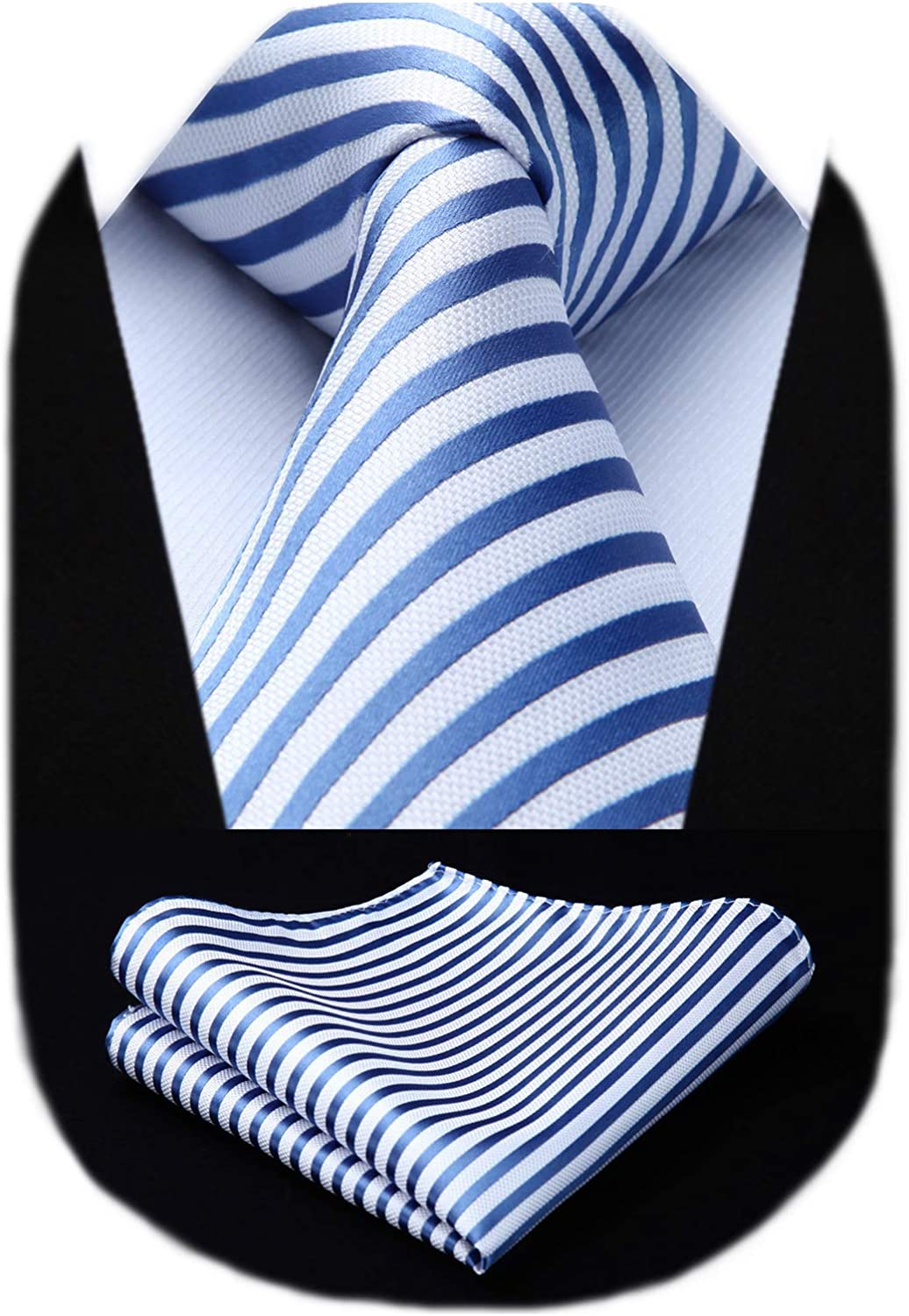 HISDERN Baltimore Mall Men's Striped Tie Woven Classic With Poc Men for High order Necktie