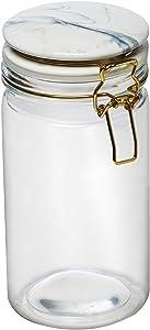 Amici Home Carrara Marble Jar Glass Storage Canister, 32 oz, Clear
