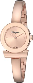 Salvatore Ferragamo Gancino Quartz Rose Dial Ladies Watch