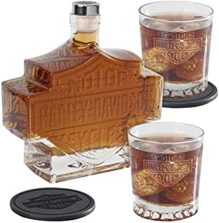 harley davidson whiskey set