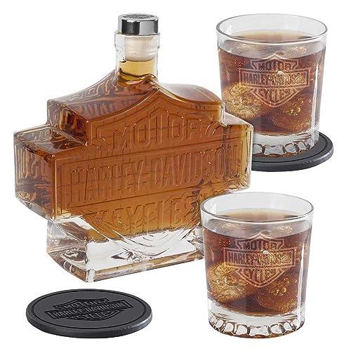 5-Pc. Harley-Davidson Bar & Shield Whiskey Decanter Set