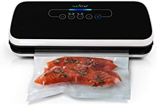 NutriChef Vacuum Sealer | Automatic Vacuum Air Sealing System For Food Preservation w/ Starter Kit | Compact Design | Lab ...