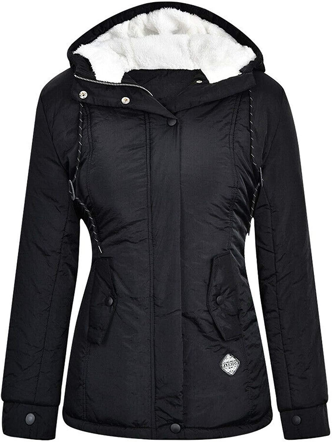 Women's discount Winter Thicken Jacket Cotton Lined Coat Inventory cleanup selling sale with Fleece Hood