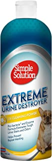 Simple Solution Urine Destroyer Enzymatic Cleaner | Pet Stain and Odor Remover with 2X Pro-Bacteria Cleaning Power