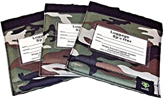 Luggage ID Handle Wrap, Identifier for Travel Bag, Luggage Tag Identifier, Green Camo - Set of 3.