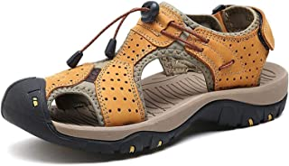 RHSMW Men's Off-Road Sandals, Summer Baotou Non-Slip Large-Size Outdoor Slippers, Air Penetration outside The Beach, Walki...