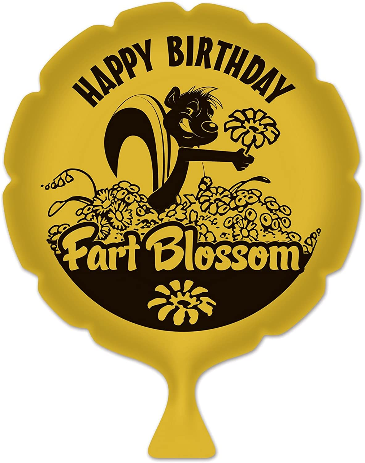 Beistle 54265 Birthday Fart Blossom Whoopee Cushion, 8-Inch, Yellow Black