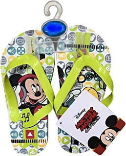 Disney Minnie Mouse or Mickey Mouse Flip Flop Sandals for Toddlers & Children | 5 Toddler - 3 Child | Kids Sandal