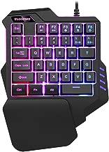 One-Handed Gaming Keyboard, Gaming keypad,RGB Led Backlit USB Wired Mini Game keypad, 35 Keys Portable Gamer Small Gameboard for LOL/PUBG/Fortnite/Wow/Dota/OW
