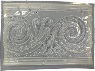 Swirl Wall Plaque Concrete Plaster Mold 7065