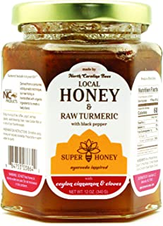 Sponsored Ad - North Carolina Honey | Turmeric Ceylon Cinnamon Honey with Black Pepper & Cloves | Super Honey | Honey for ...