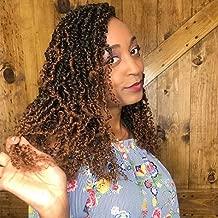 Gabrielle 3 Pack Ombre Spring Twist Crochet Braids Bomb Twist Crochet Hair TB-30# for Women Kanekalon Synthetic Fluffy Braiding Hair Extensions Curly High Temperature Fiber Crochet Hair