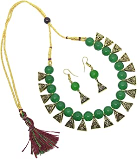Best green stone necklace india Reviews