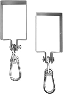 Safari Swings 2 Heavy Duty Iron Swing Hangers for Wooden Sets   Includes 2 Snap Hooks. for Connecting to a 4