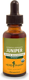 Herb Pharm Certified Organic Juniper Liquid Extract for Urinary System Support - 1 Ounce