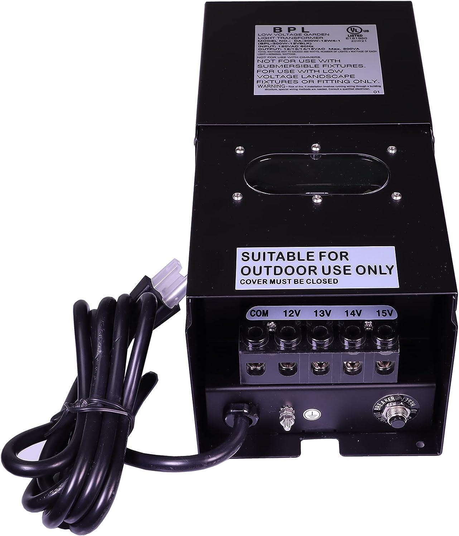 300 Watt Transformer Low Voltage Landscape AC Volt Tap Deluxe Multi 120 mart