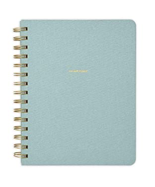 "RUSSELL+HAZEL Spiral Dot Bookcloth Notebook, Bullet Journal, Dew, 80 Sheets, 6.25"" x 8"" (40450)"