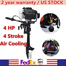 HANGKAI Outboard Motor,4 HP 4 Stroke 52CC Outboard Motor Fishing Boat Engine Fishing Boat Motor Air Cooling CDI System Durable Cast Aluminum Construction for Superior Corrosion Protection 2 Year WARRE