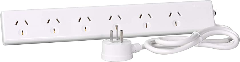 HPM R105/6 Standard Overload 6 Outlet Powerboard Powerboard - Standard 10A 2400W 6 outlets White Overload Protection 0.9m ...