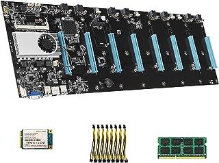 figatia BTC-S37, placa-mãe gráfica, conjunto de CPU, 16X DDR3 Miner, disco rígido 128G, cabo adaptador 8 pinos