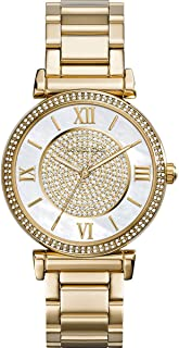 Michael Kors Catlin Mother of Pearl Dial Gold Tone SS Quartz Ladies Watch MK3332