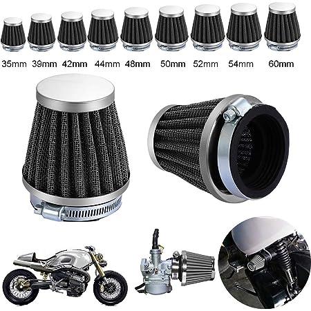 Motorrad Universal Kopf Luftfilter Ansaugfilter 35mm 39mm 42mm 44mm 48mm 50mm 52mm 54mm 60mm 50mm Auto