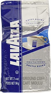 Lavazza Gran Filtro Ground Coffee Blend, Medium Roast, 2.25-Ounce Bags (Pack of 30)