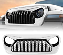 American 4wheel White & Black Gladiator Vader Grille Grill for Jeep Wrangler 2018-2019 JL JLU, ABS