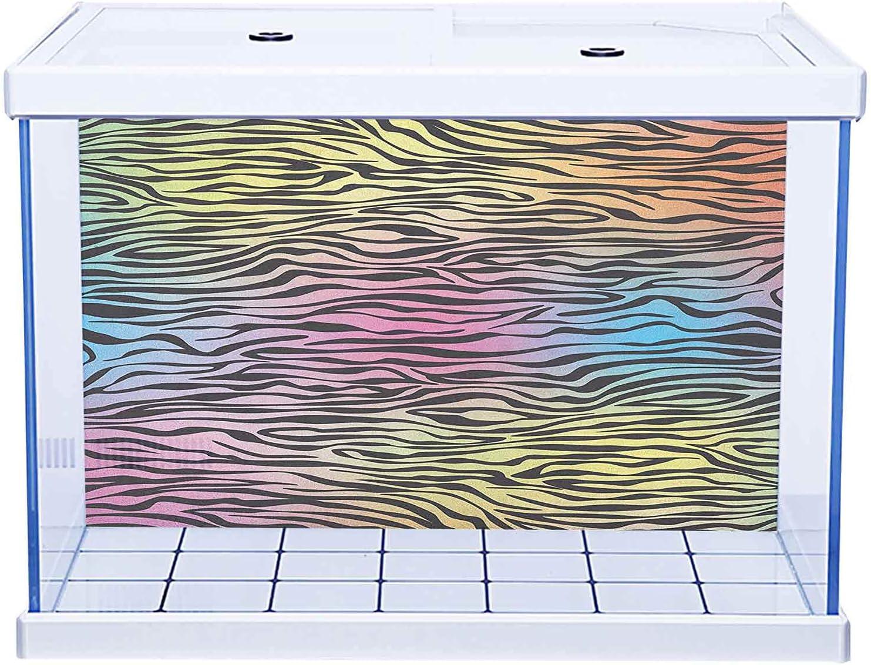 Aquarium Background Sticker Pattern Ranking TOP4 Abstract Zebra Print S Max 61% OFF