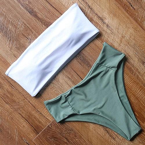 CHENG Bikini Bikini à Col Haut Maillot De Bain Femme Maillot De Bain Push Up Maillot De Bain plage Wear Bikini Set
