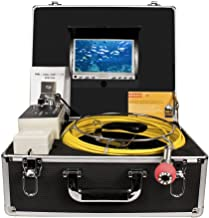 Pipe Inspection Camera,Drain sewer Industrial Endoscope HBUDS H50DVR Waterproof IP68 50M/165ft Snake Video System with 7 Inch LCD Monitor 1000TVL Sony CCD DVR Recorder (8GB SD Card Include)