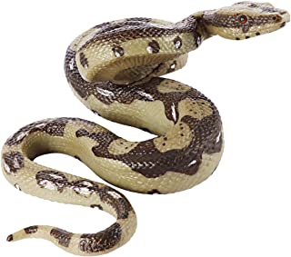 Amosfun Realistic Snake Toy Large Rubber Snake Simulation Python Model That Look Real Prank Cobra Halloween Prank Toy for Halloween April Fools Day Party Props