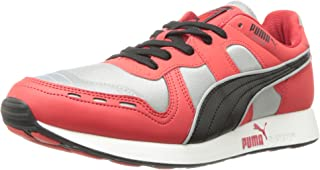 Puma AW Running Shoes for Men, Red/Silver/Black 11 US