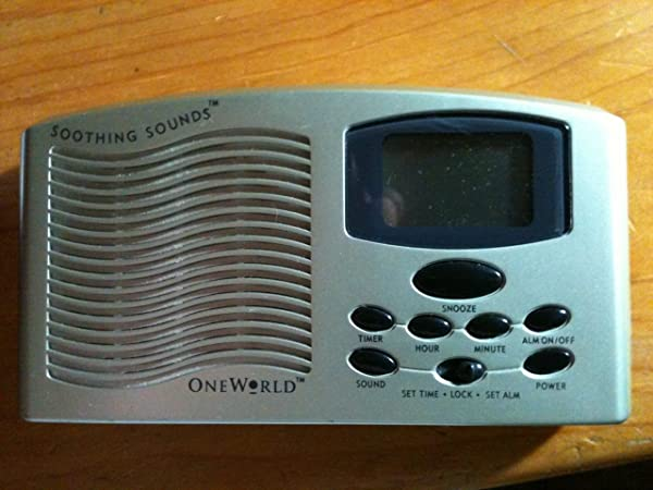 One World Soothing Sounds Sound Machine With Digital Alarm Clock