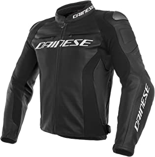 Dainese Racing 3 Perforated Leather Men's Street Motorcycle Jackets - Black/Black/Black / 60