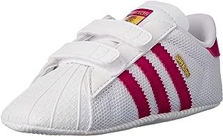 adidas Baby Girls' Superstar Crib Shoes, Footwear White/Bold Pink/Footwear White