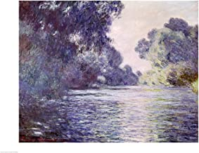 Branch of The Seine Near Giverny, 1897 Detail by Claude Monet Art Print, 19 x 14 inches