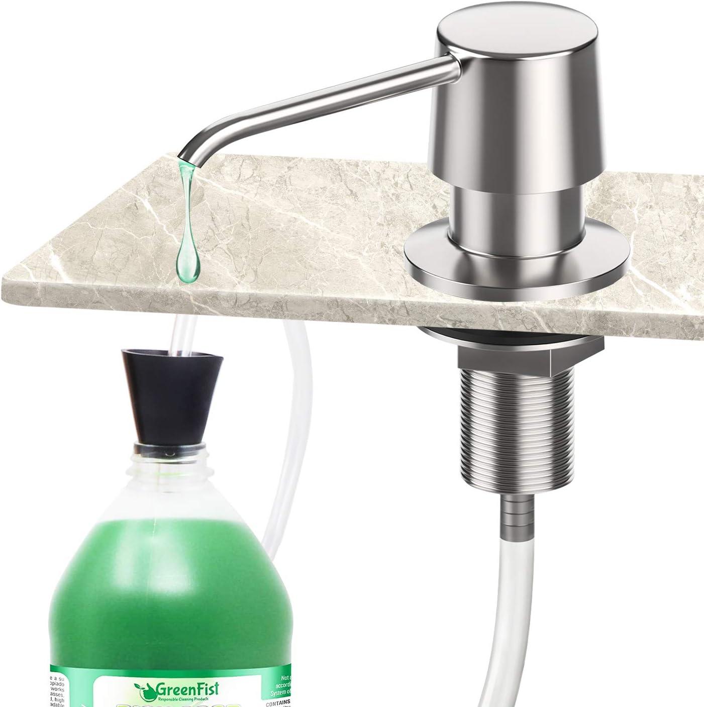 Zalava Soap Dispenser Stainless with Extension Tube Kit for Kitc